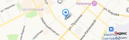 Детский сад №53 на карте Сыктывкара