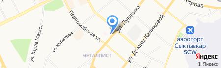 Матрасбург на карте Сыктывкара