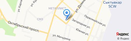 Капелька на карте Сыктывкара
