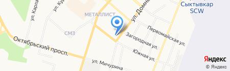 Норд Вест на карте Сыктывкара