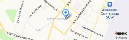 Банкомат Россельхозбанк на карте Сыктывкара