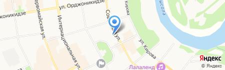 Виола на карте Сыктывкара