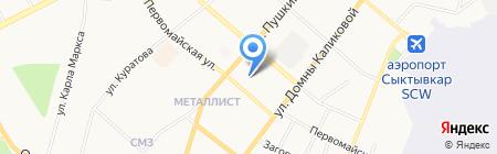 ТТК на карте Сыктывкара