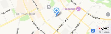 Центральная городская библиотека на карте Сыктывкара