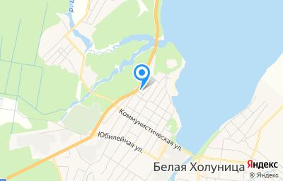 Местоположение на карте пункта техосмотра по адресу Кировская обл, г Белая Холуница, ул Победы, д 6