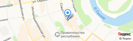 7 Марта на карте Сыктывкара