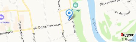 Управление по реставрации объектов культурного наследия и ремонту учреждений культуры на карте Сыктывкара