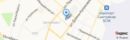 Управление Министерства юстиции РФ по Республике Коми на карте Сыктывкара