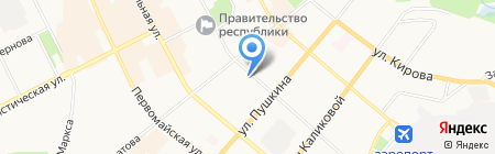 Мимоза на карте Сыктывкара