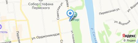 Аква-плюс на карте Сыктывкара