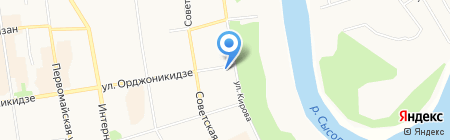 Легенда на карте Сыктывкара