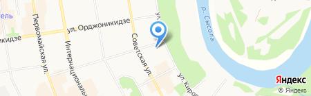 Управление ФСБ России по Республике Коми на карте Сыктывкара