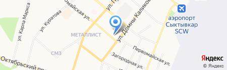 РАБОТА и УЧЕБА на карте Сыктывкара