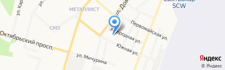 Восход на карте Сыктывкара