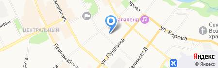 Магазин мясной продукции на карте Сыктывкара