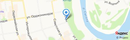 Управление Пенсионного фонда РФ в г. Сыктывкаре на карте Сыктывкара