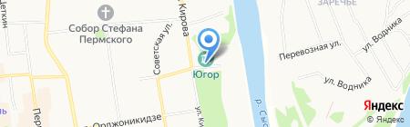 Многофункциональный центр предоставления государственных и муниципальных услуг Республики Коми на карте Сыктывкара