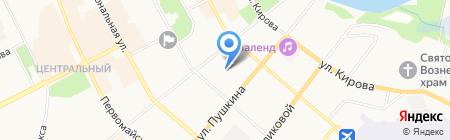 Пушкинский на карте Сыктывкара
