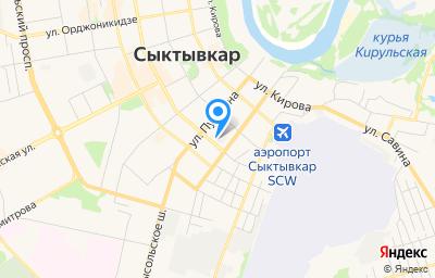Местоположение на карте пункта техосмотра по адресу г Сыктывкар, ул Интернациональная, д 197