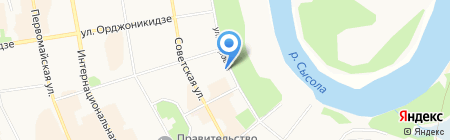 МВД по Республике Коми на карте Сыктывкара