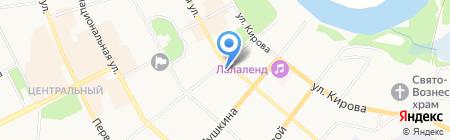 Московская ярмарка на карте Сыктывкара