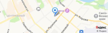 Немо на карте Сыктывкара