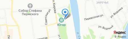 Лакшми на карте Сыктывкара