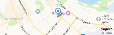 Удачный выбор на карте Сыктывкара