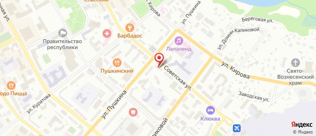 Карта расположения пункта доставки На Советской в городе Сыктывкар