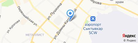 Атом на карте Сыктывкара