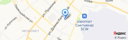 Нотариальная палата Республики Коми на карте Сыктывкара