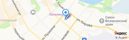Октябрь на карте Сыктывкара