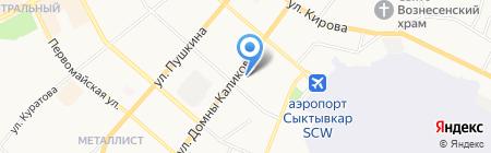 Нотариус Барышникова Н.А. на карте Сыктывкара