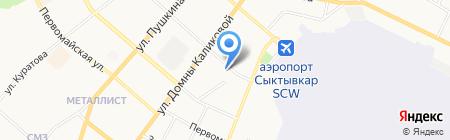 Коми республиканское управление инкассации на карте Сыктывкара