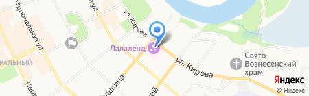 Люмьер на карте Сыктывкара