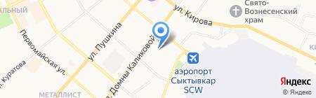 ЦСК на карте Сыктывкара