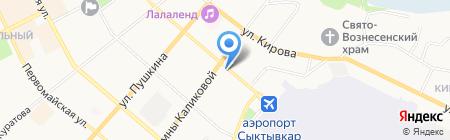 Каштан на карте Сыктывкара