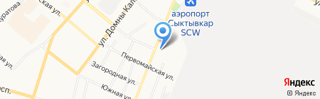 ЖСК-23 на карте Сыктывкара