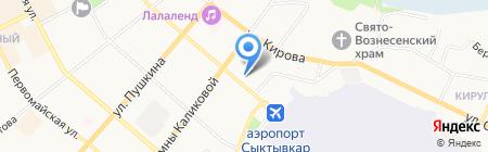Следственное Управление на карте Сыктывкара