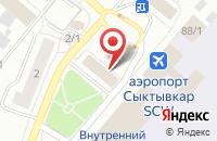 Схема проезда до компании Медсанчасть аэропорта г. Сыктывкара в Сыктывкаре