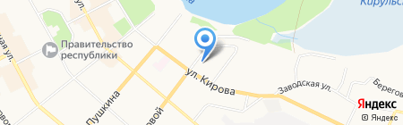 Сыктывкарская детская музыкально-хоровая школа на карте Сыктывкара