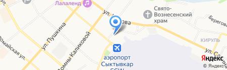 Сыктывкар на карте Сыктывкара