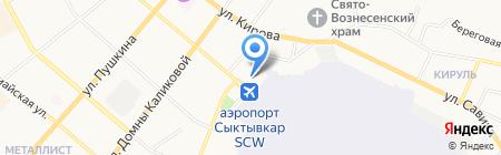 Сыктывкарская транспортная прокуратура на карте Сыктывкара