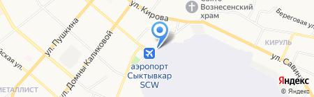 Катюша на карте Сыктывкара