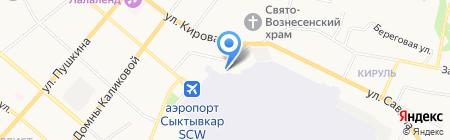Вышка на карте Сыктывкара