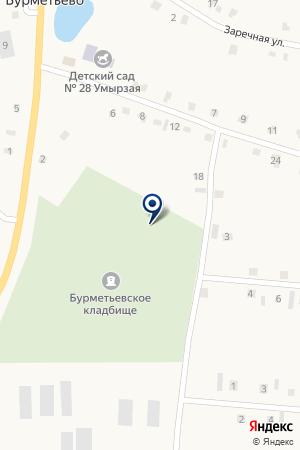 ПОДСТАНЦИЯ БУРМЕТЬЕВО на карте Нурлата