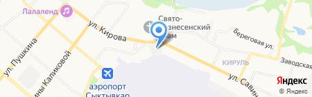 ЛИКАРД на карте Сыктывкара