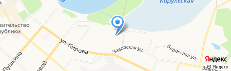 Подорожник на карте Сыктывкара