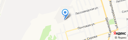 Автотема на карте Сыктывкара