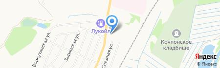 Марица на карте Сыктывкара